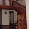 Hand carved stair railing. Home built by Charlie Mallory