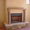 Hand carved mantel Home built by TC Builders