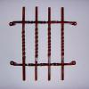 Hand forged iron speak easy door grates. Rusted finish