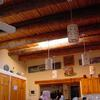 Built by Terry Taggart Rustic spruce vigas with latilla ceiling.