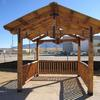 Heavy timber truss gazebo.  We can help you design your next project.